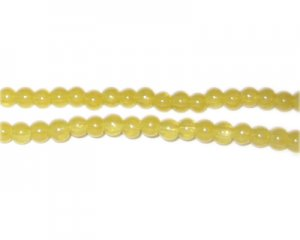 4mm Citrine Jade-Style Glass Bead, approx. 105 beads