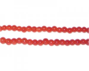4mm Nectarine Jade-Style Glass Bead, approx. 105 beads