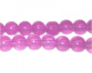 10mm Crimson Jade-Style Glass Bead, approx. 21 beads