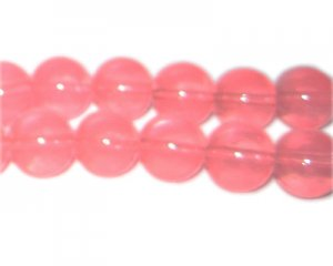 12mm Bubblegum Jade-Style Glass Bead, approx. 18 beads