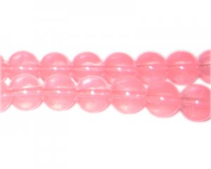 10mm Rose Jade-Style Glass Bead, approx. 21 beads