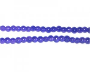 4mm Navy Jade-Style Glass Bead, approx. 105 beads