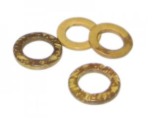 20mm Gold Dyed Coconut Circle, 15 circles
