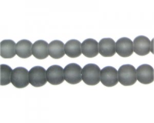 6mm Gray Sea/Beach-Style Glass Bead, approx. 71 beads