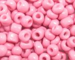 6/0 Pink Opaque Glass Seed Bead, 1oz. bag