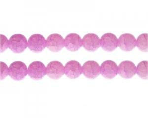 10mm Rose Quartz Duo-Style Glass Bead, approx. 16 beads