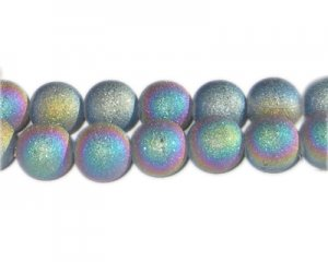 12mm Luster Druzy-Style Electroplated Glass Bead, approx. 12 bea