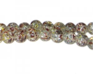 10mm African Nights Crackle Season Glass Bead, approx. 16 beads