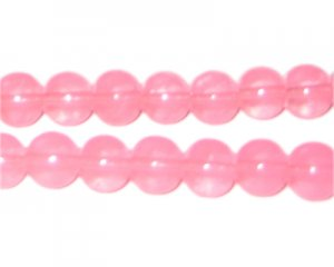 10mm Guava Jade-Style Glass Bead, approx. 21 beads