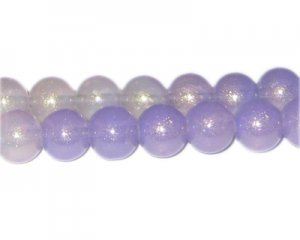 12mm Purple Pearlised Glass Bead, faded. No Returns!
