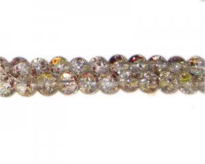 8mm African Nights Crackle Season Glass Bead, approx. 54 beads