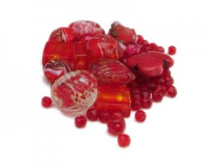 Approx. 1.5 - 2oz. Red Bead Mix