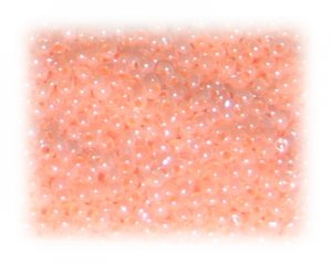 11/0 Pale Peach Ceylon Glass Seed Beads, 1 oz. bag