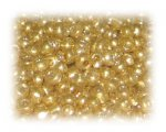 6/0 Bright Gold Metallic Glass Seed Beads, 1 oz. bag