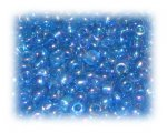 6/0 Deep Turquoise Rainbow Luster Glass Seed Beads, 1 oz. bag