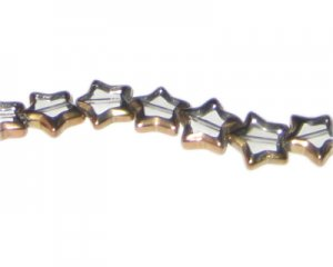 12mm Crystal Vintage-Style Star Glass Bead, approx. 9 beads