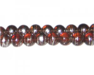 10mm Brown Brilliance Abstract Glass Bead, approx. 22 beads