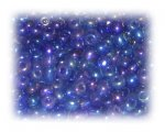 6/0 Royal Blue Rainbow Luster Glass Seed Beads, 1 oz. bag