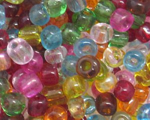 6/0 Color Transparent Glass Seed Bead, 1oz. bag