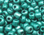 6/0 Green Metallic Glass Seed Bead, 1oz. bag