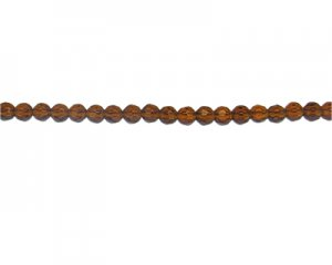 "6mm Brown Faceted Glass Bead, 26"" string"