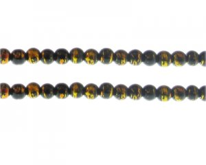 6mm Lightning Sky Abstract Glass Bead, 48 beads