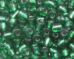 6/0 Dark Green Silver-Lined Glass Seed Bead, 1oz. bag