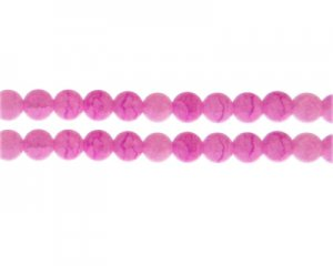 8mm Cherry Quartz Duo-Style Glass Bead, approx. 35 beads