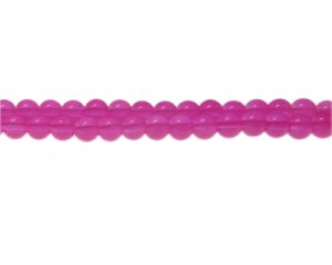 8mm Magenta Jade-Style Glass Bead, approx. 55 beads
