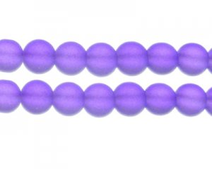 12mm Deep Purple Sea/Beach-Style Glass Bead, approx. 14 beads