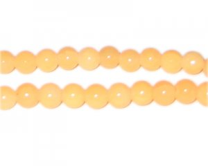 8mm Light Carnelian-Style Glass Beads, approx. 53 beads