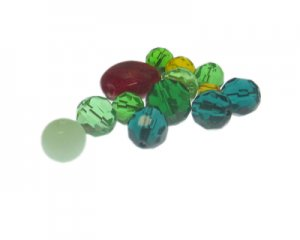 Approx. 1.5-2oz. Christmas Glass Bead Mix