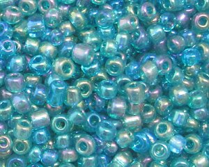 11/0 Teal Luster Glass Seed Bead, 1oz. bag