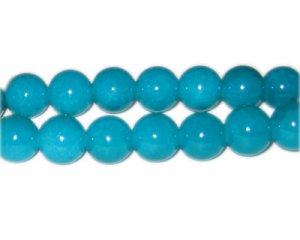 12mm Amazonite-Style Glass Bead, approx. 18 beads