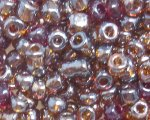 6/0 Dark Brown Ceylon Glass Seed Bead, 1oz. bag