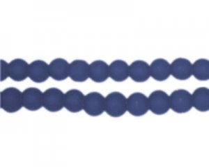 6mm Petrol Blue Sea/Beach-Style Glass Bead, approx. 71 beads