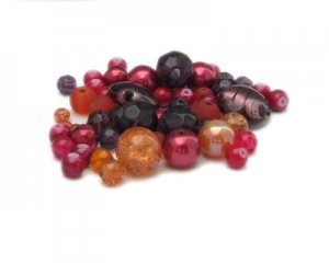 Approx. 1.5 - 2oz. Fall Leaves Bead Mix