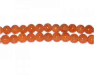 8mm Deep Carnelian-Style Glass Bead, approx. 53 beads