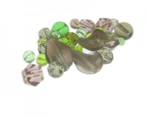 Approx. 1.5 - 2oz. Forest Glass Bead Mix