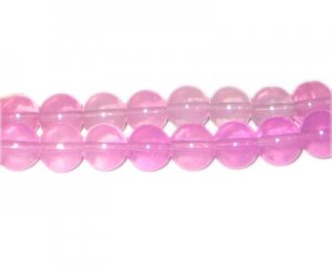 10mm Hot Pink Gemstone-Style Glass Bead, faded. No Returns!