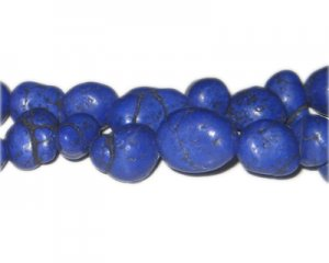 10 - 20mm Dyed Royal Blue Turquoise Nuggets, approx. 26 beads