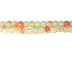 6mm Parfait Marble-Style Glass Bead, approx. 72 beads