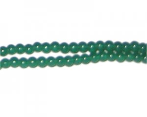 4mm Hunter Green Jade-Style Glass Bead, approx. 105 beads