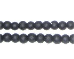 6mm Black Sea/Beach-Style Glass Bead, approx. 71 beads