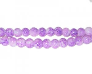 6mm Amethyst-Style Glass Bead, approx. 72 beads