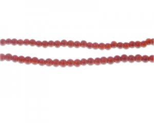4mm Cherry Jade-Style Glass Bead, approx. 105 beads