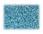 11/0 Turquoise Silver-Lined Glass Seed Beads, 1 oz. bag