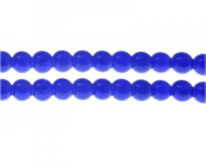 8mm Lapis-Style Glass Bead, approx. 35 beads