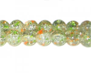 12mm Spring Flowers Crackle Season Glass Bead, approx. 17 beads