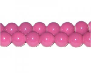 12mm Violet Team and School Glass Bead, approx. 18 beads